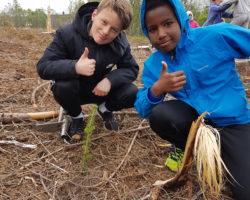 Skoleskogdag i Sandnessjøen