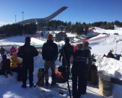 Skogselskapet på skifest i Holmenkollen